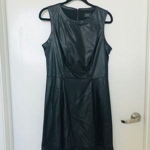 Vtg NWT Vakko Faux vegan leather dress